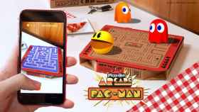 Pac-Man en la caja de Pizza Hut