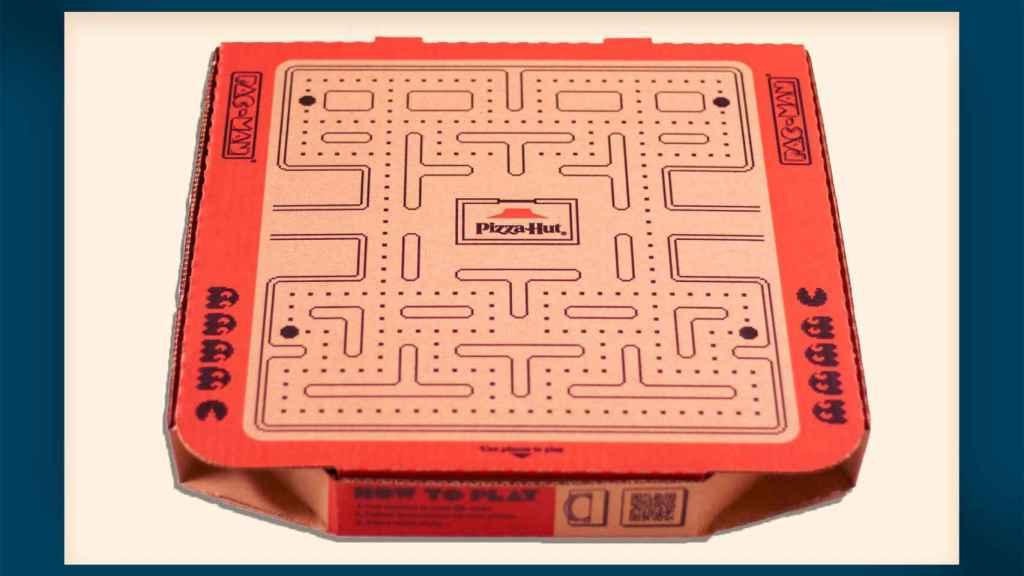 Tablero del Pac-Man en la caja