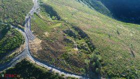 Vista aérea de la mina de O Curral de Milleiros.