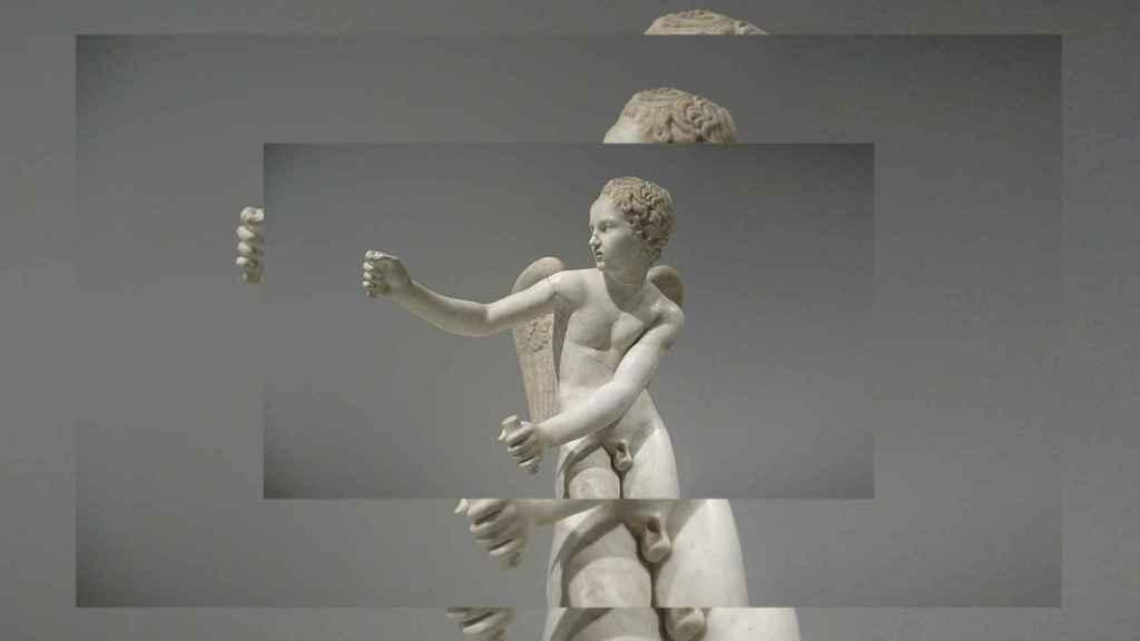 Escultura romana de mármol de Eros (siglo II A.C,), copia de un original griego de Lisipo. Foto: Adolfo Plasencia.