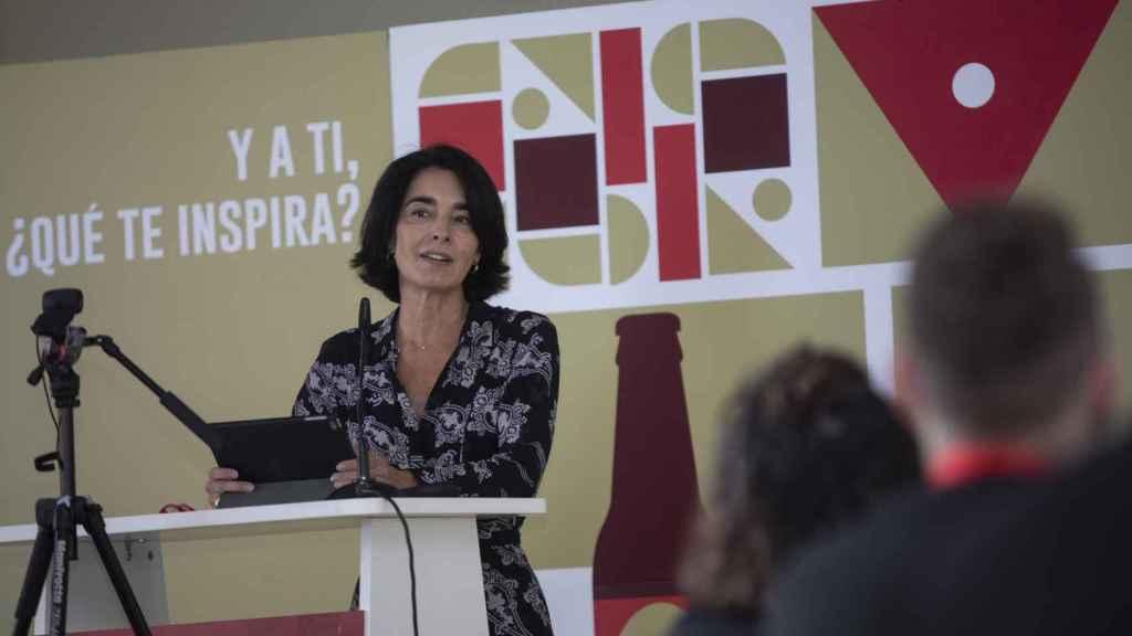 Carmen en la inauguración del programa social 'Talento Cruzcampo' de la Fundación.