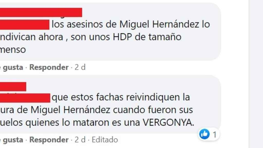 Algunos de los comentarios en la red del ente público.