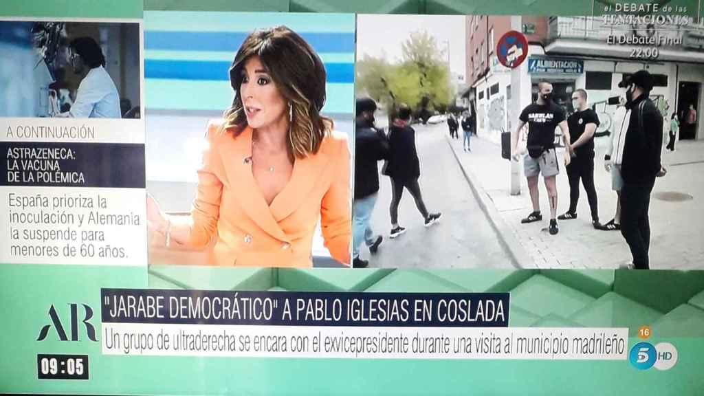 """El Programa de Ana Rosa' califica el acoso de nazis a Pablo Iglesias como  """"jarabe democrático"""""""