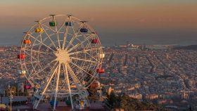 Vista de Barcelona desde el Tibidabo.