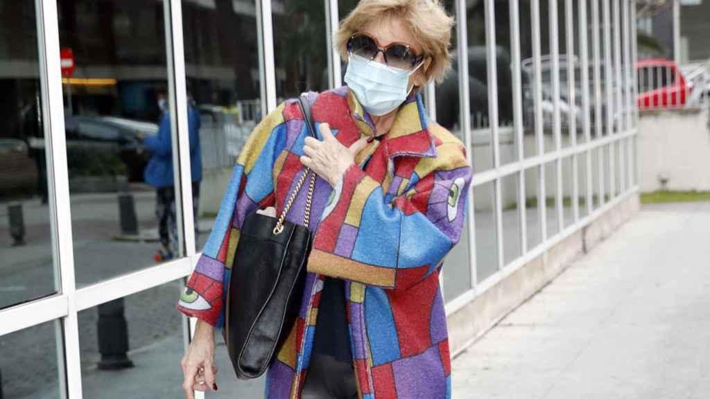 Mila Ximénez llegando al hospital La Luz, el pasado mes de diciembre.