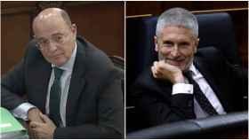 El coronel Pérez de los Cobos y el ministro del Interior.