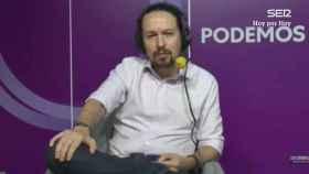 Pablo Iglesias en entrevista a la Cadena Ser.