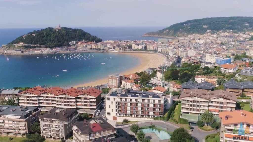 Vista panorámica de la ciudad de San Sebastián.