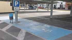 Una de las plazas de aparcamiento que el sistema de Park4Dis puede localizar para sus usuarios.