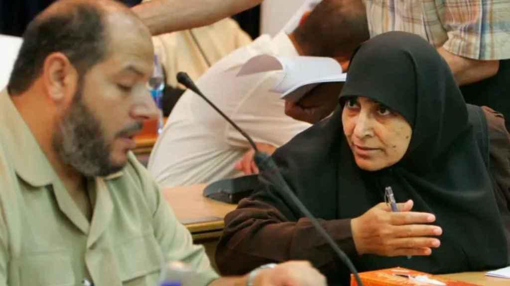 Jamila Al-Shanti durante una sesión del Parlamento de Gaza, en una imagen de archivo.