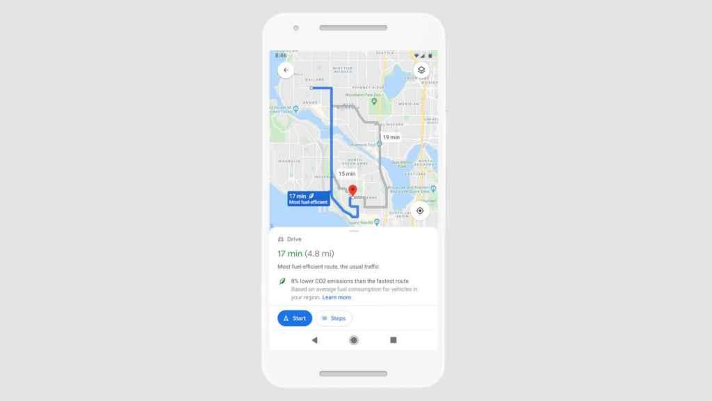 Google Maps mostrará la ruta más ecológica