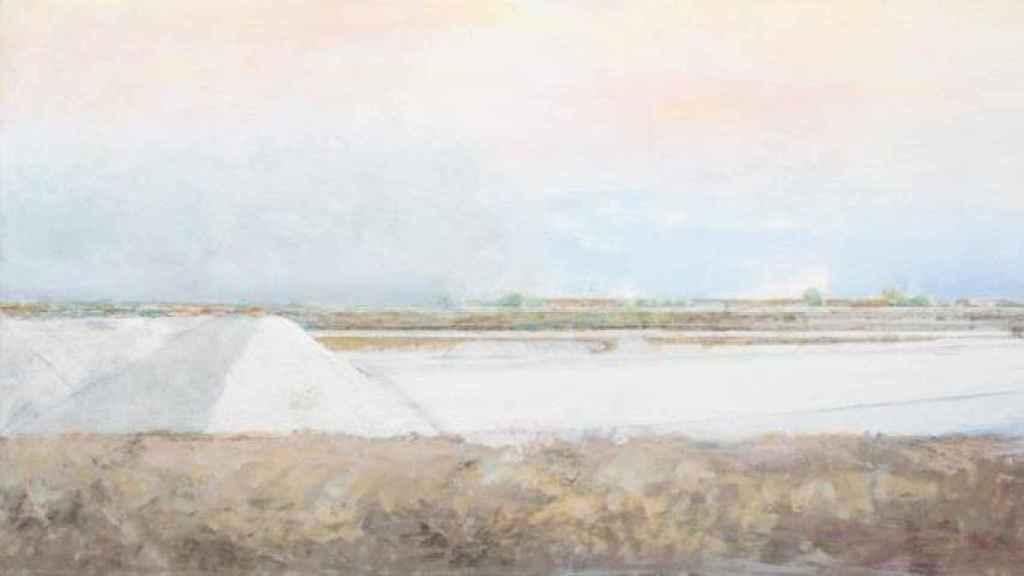 Uno de los cuadros de Carmen Laffon en la serie La sal.
