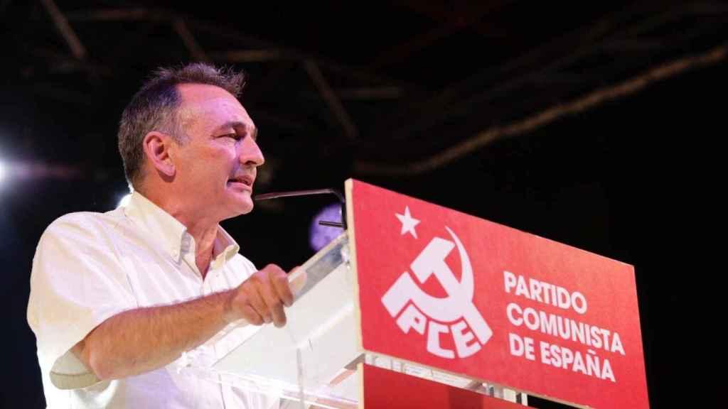 Enrique Santiago, secretario general del PCE.