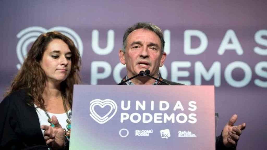 Enrique Santiago, en un acto de Unidas Podemos.