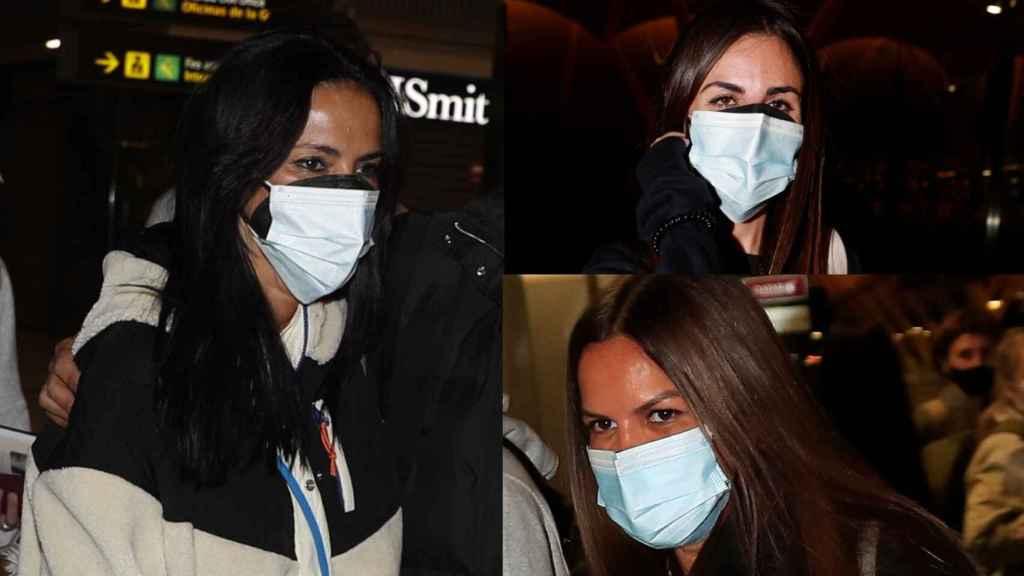 Olga Moreno junto a Marta López y Alexia Rivas en montaje de JALEOS.