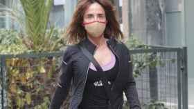 María Patiño llegando al hospital donde se encuentra ingresada Mila Ximénez desde hace días.