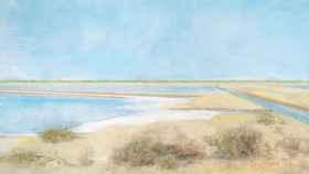 Una de las obras de Carmen Laffón en La sal.