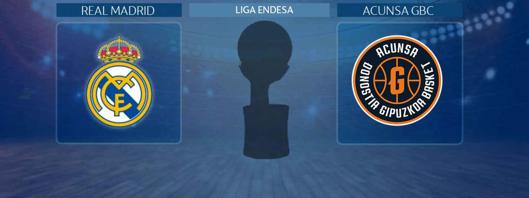 Real Madrid - Acunsa GBC, partido de la Liga Endesa