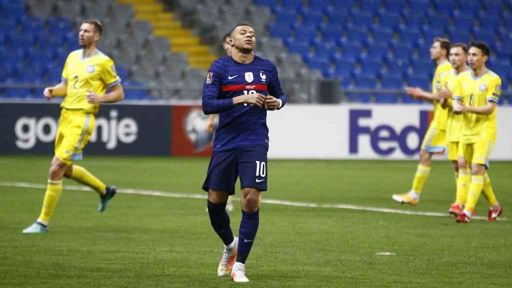 Kylian Mbappé, con la selección de Francia