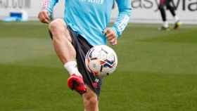 Luka Modric, durante un entrenamiento del Real Madrid