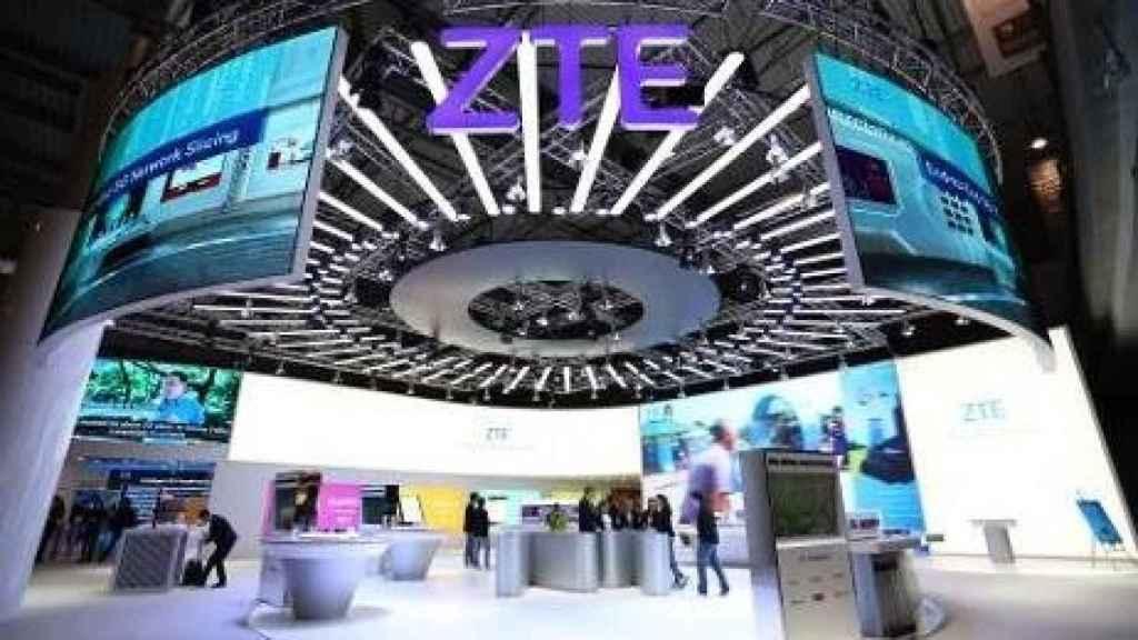 Un 'stand' ZTE en una muestra tecnológica.