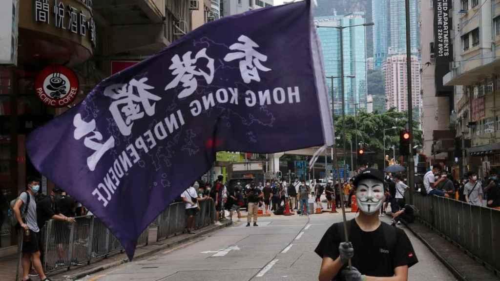 Una protesta prodemocracia en Hong Kong.