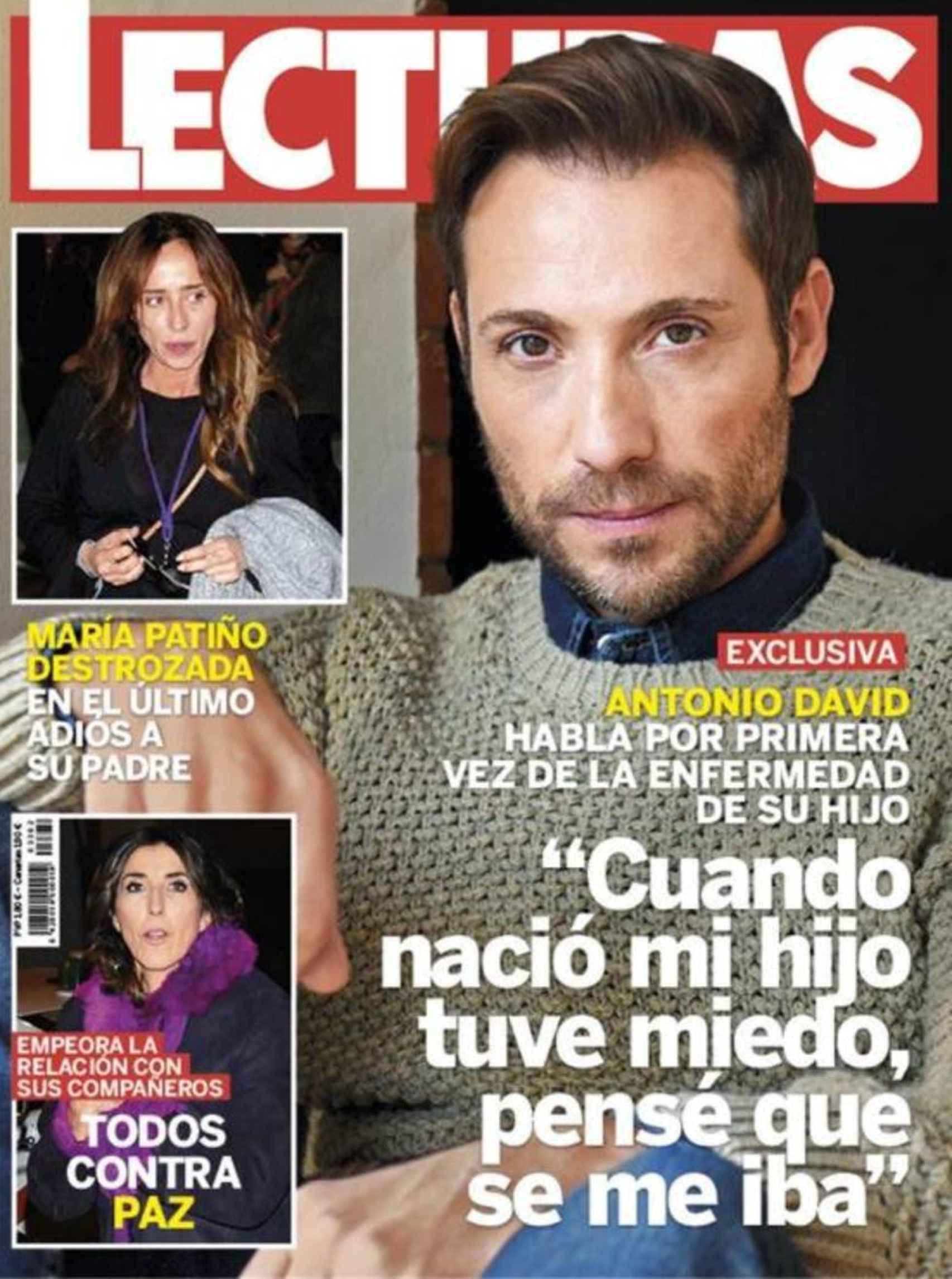 La portada que protagonizó Antonio David Flores, en 2017.