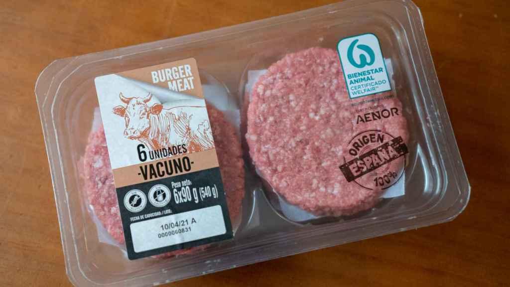 El paquete de hamburguesas de Lidl.