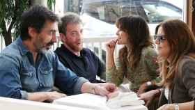 Nuria Roca, Juan del Val, Pablo Motos y su mujer en montaje de JALEOS.