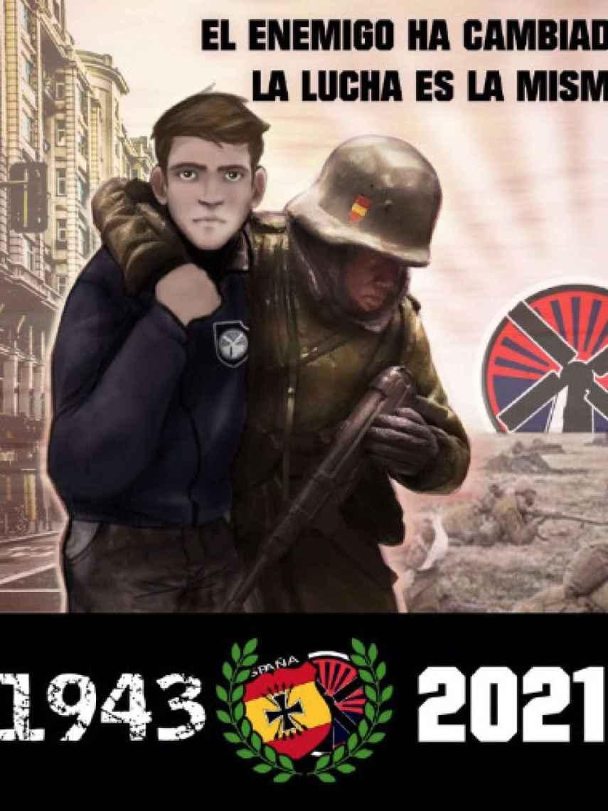 Cartel propagandístico de los neonazis.