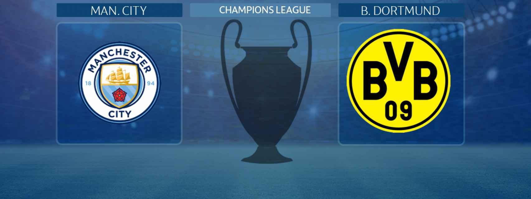 Manchester City - Borussia Dortmund, partido de la Champions League