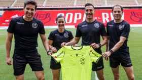 El equipo arbitral de la final de la Copa del Rey de 2020