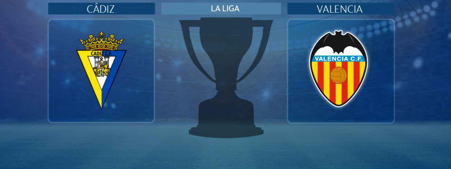 Cádiz - Valencia, partido de La Liga