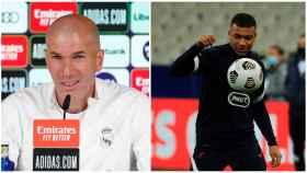 Zidane y Mbappé, en un collage