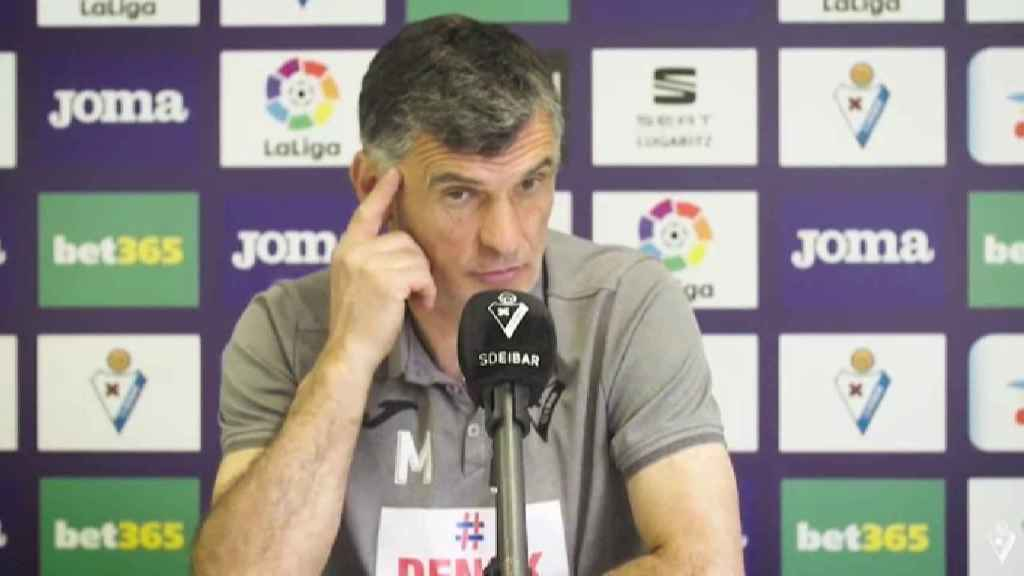 José Luis Mendilibar, en rueda de prensa