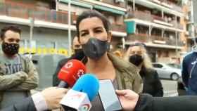 La candidata de Vox a la Comunidad de Madrid, Rocío Monasterio, este viernes en el distrito de Ciudad Lineal.