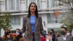 La líder de Ciudadanos, Inés Arrimadas durante la presentación de Edmundo Bal como candidato a la presidencia de la Comunidad de Madrid.