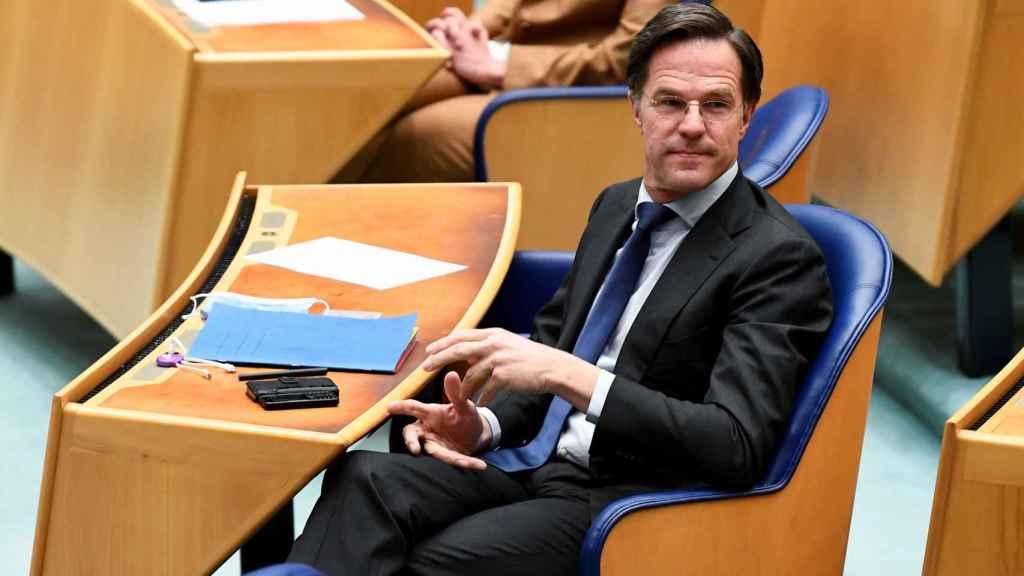Mark Rutte en el Parlamento de Países Bajos.