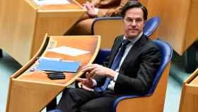 Mark Rutte en el Parlamento este jueves.