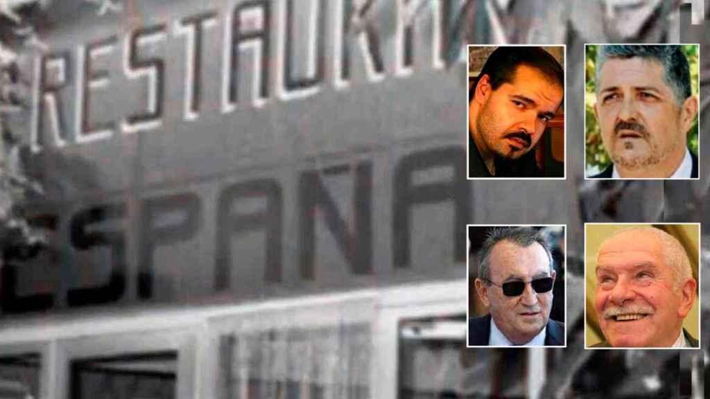 Arriba, los instigadores del bulo Reinaldo Colás y Antonio Toscano; abajo, las víctimas Giuseppe Farina y Carlos Fabra.
