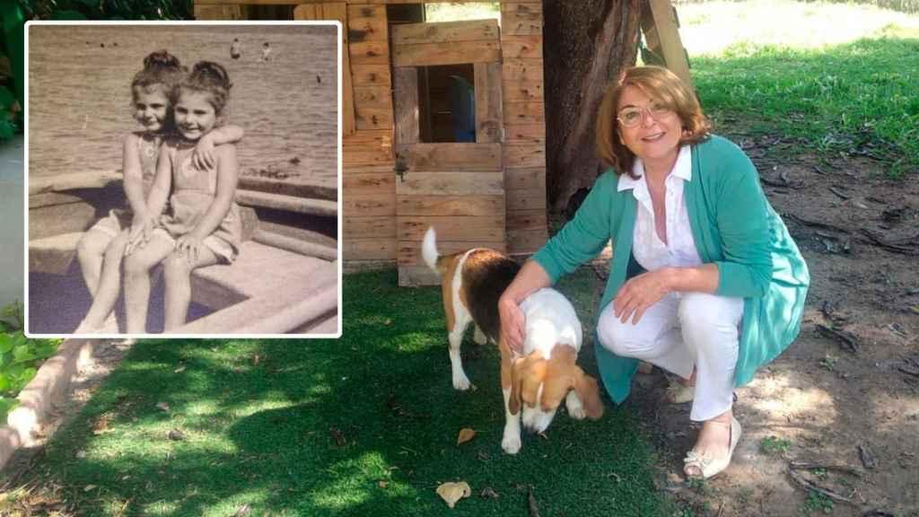 Mabel Campuzano, nueva consejera de Educación y Cultura de Murcia, junto a su perra Odri.