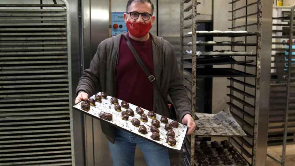 Raúl, uno de los dueños de Panadería Conejo.