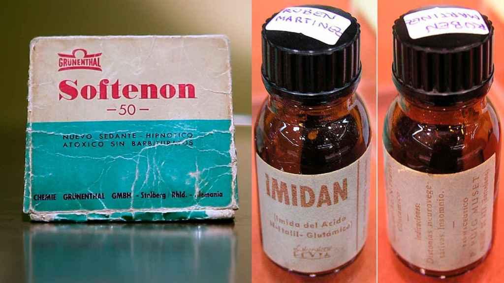 El Softenon y el Imidan fueron dos de los fármacos con talidomida que autorizó el Ministerio de la Gobernación de Franco.