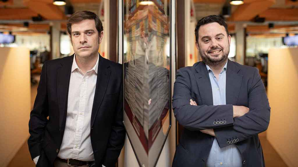 Mario Díaz, director adjunto de EL ESPAÑOL y Arturo Criado, subdirector de Invertia.