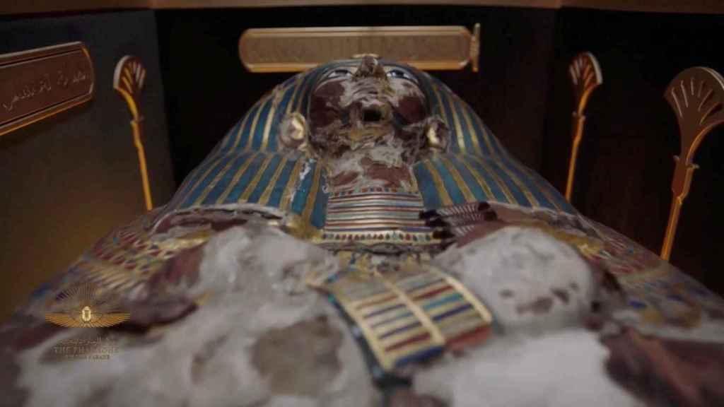 Ataúd del faraón Tutmosis I.