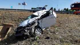 FOTO: Imagen de archivo de un accidente en Castilla-La Mancha.