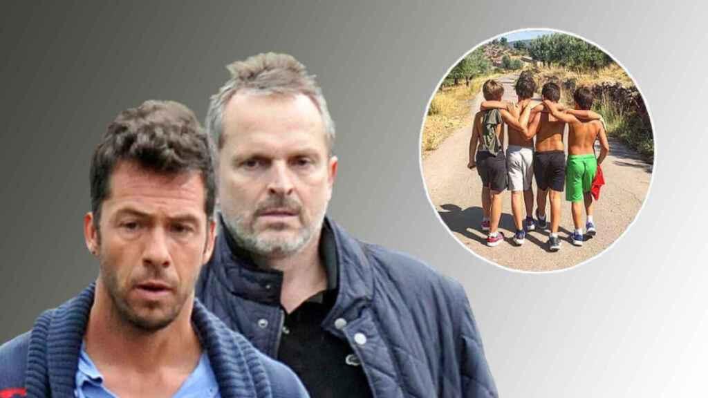 La guerra de Nacho Palau y Miguel Bosé mantiene a sus 4 hijos separados.