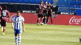 Los jugadores del Celta celebran un gol ante el Alavés