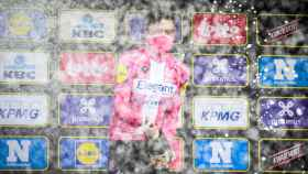 Kasper Asgreen celebra su triunfo en la Vuelta a Flandes