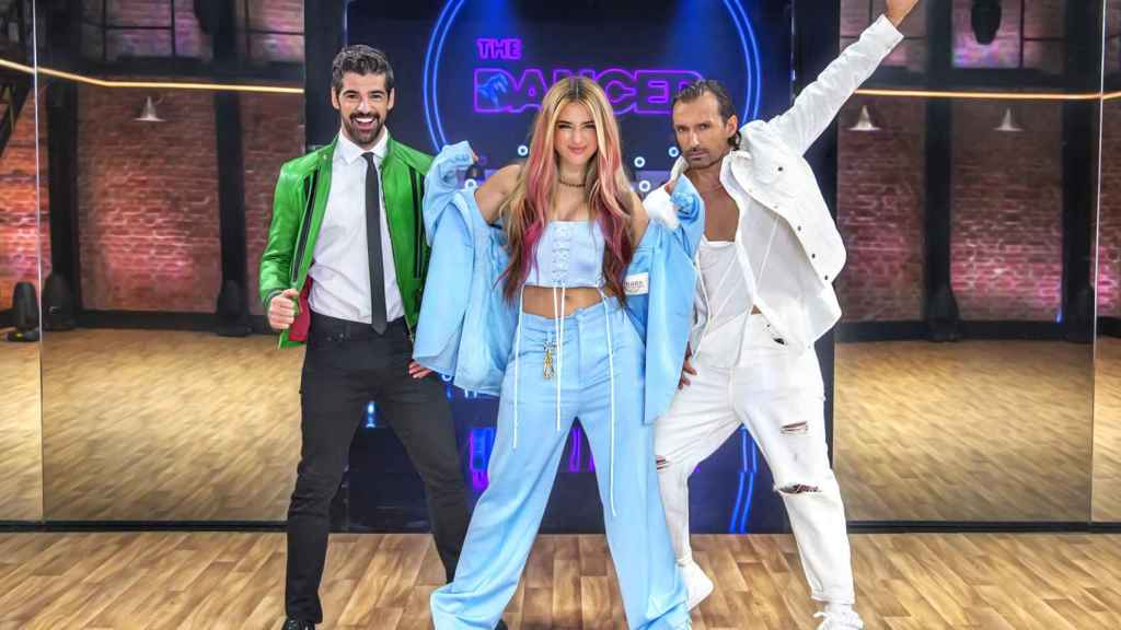 Miguel Ángel Muñoz, Lola Índigo y Rafa Mendez en 'The dancer'